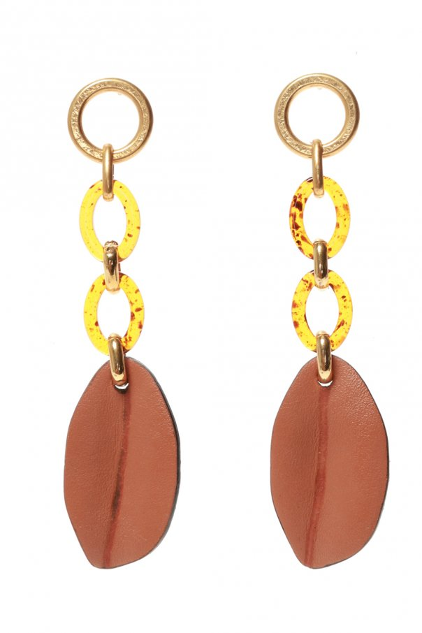 Marni Earrings with leather appliques