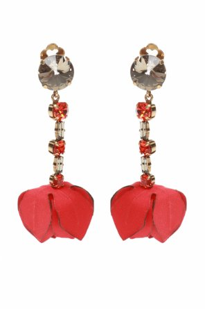 Embellished clip-on earrings od Marni