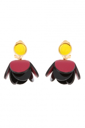 Floral motif clip-on earrings od Marni