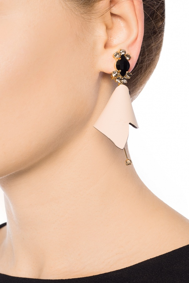 Clip-on earrings with leather od Marni