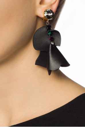 Encrusted clip-on earrings od Marni