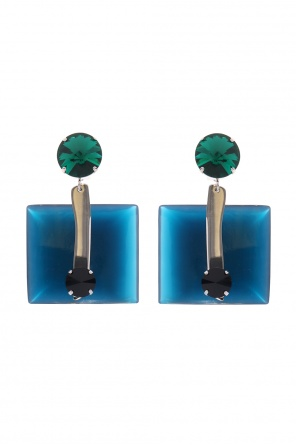 Adorned clip-on earrings od Marni