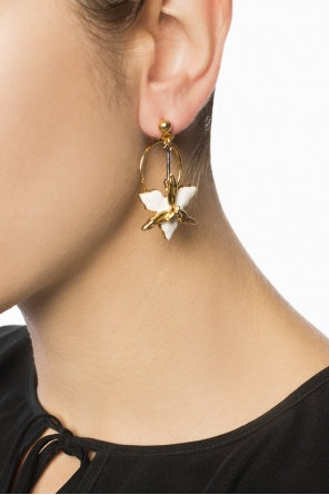 Hanging earrings with floral motif od Marni