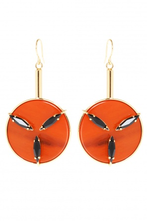 Round hanging earrings od Marni