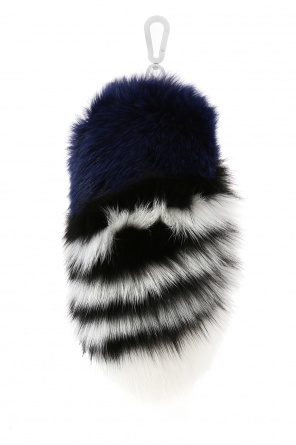 Fox fur key ring od Off White