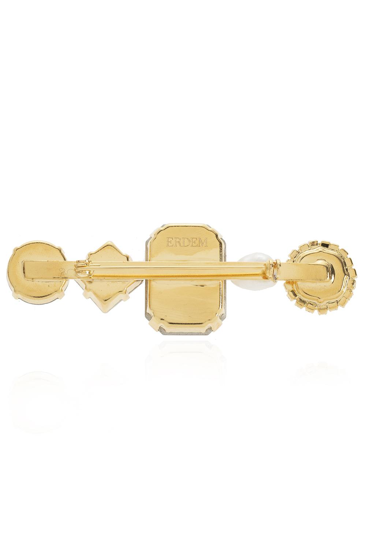 Erdem Brass brooch