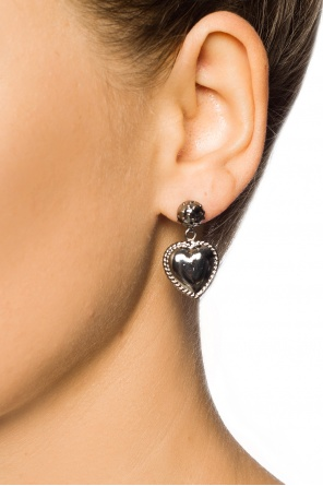 Earring with a heart motif od Valentino Red