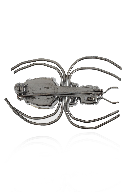 Etro 蜘蛛款式胸针