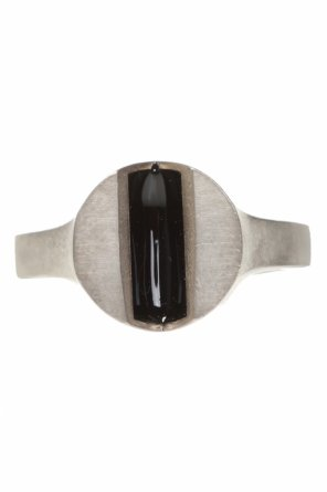 Silver ring with geometric motif od Maison Margiela