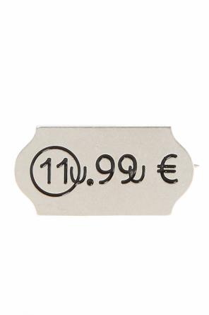 Embossed pattern silver pin od Maison Margiela