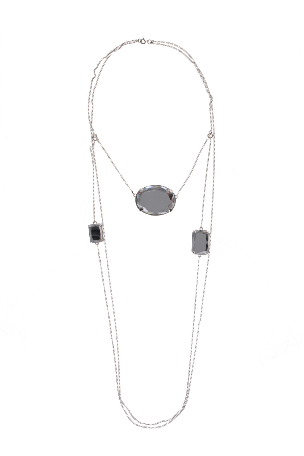 Maison Margiela Three Crystals Necklace