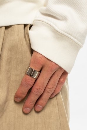 Silver logo ring od Maison Margiela