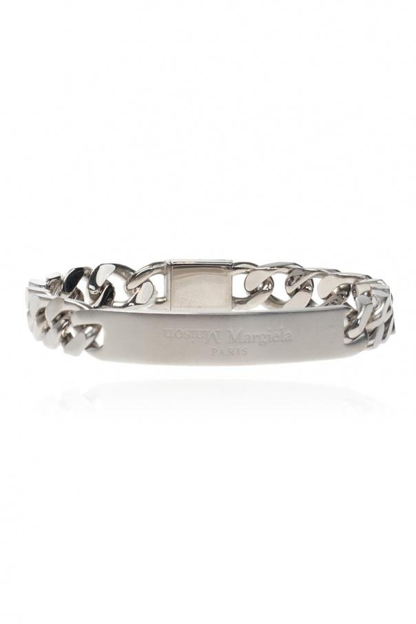 Maison Margiela Silver bracelet with logo