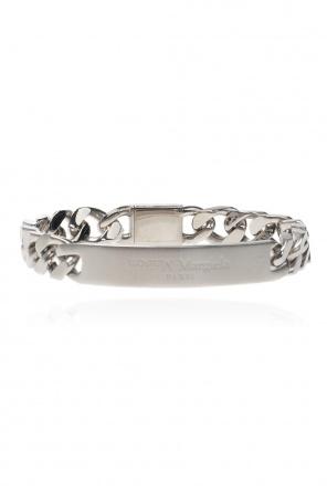 Silver bracelet with logo od Maison Margiela
