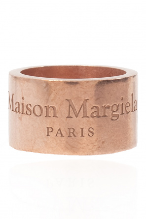 Silver ring with logo od Maison Margiela