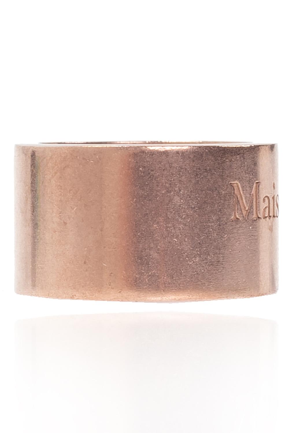 Maison Margiela Silver ring with logo