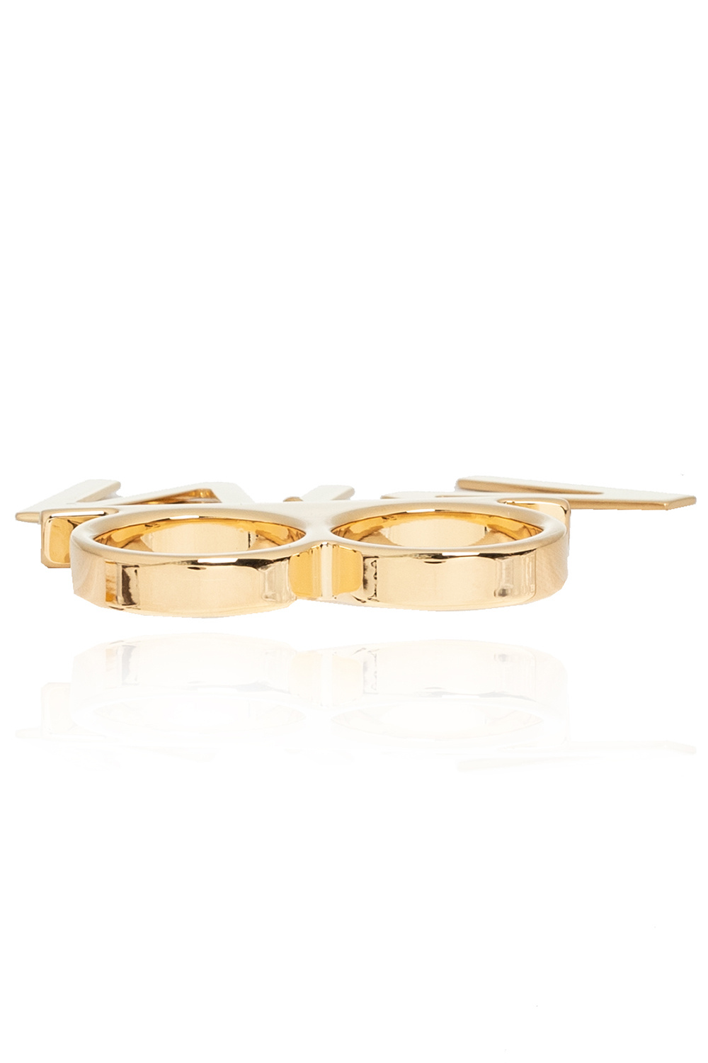 MM6 Maison Margiela Double ring with charm