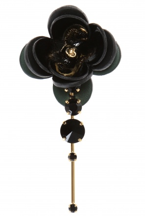 Brooch with leather flower od Marni
