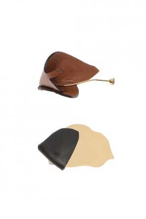 Brooches trimmed with leather od Marni