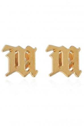 Logo-shaped earrings od MISBHV