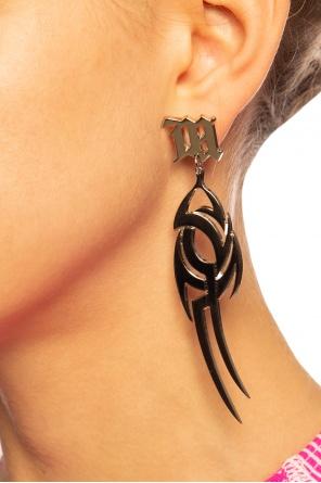 Asymmetrical earrings with logo od MISBHV