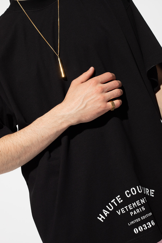 VETEMENTS Pierścień z logo