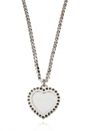 Brass necklace with logo od Vetements