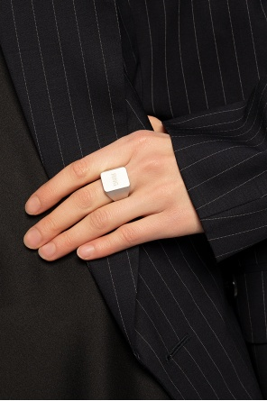 Brass ring with logo od Vetements
