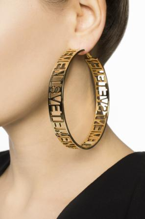 Round logo earrings od Vetements