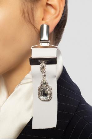 Brass earrings with logo od Vetements