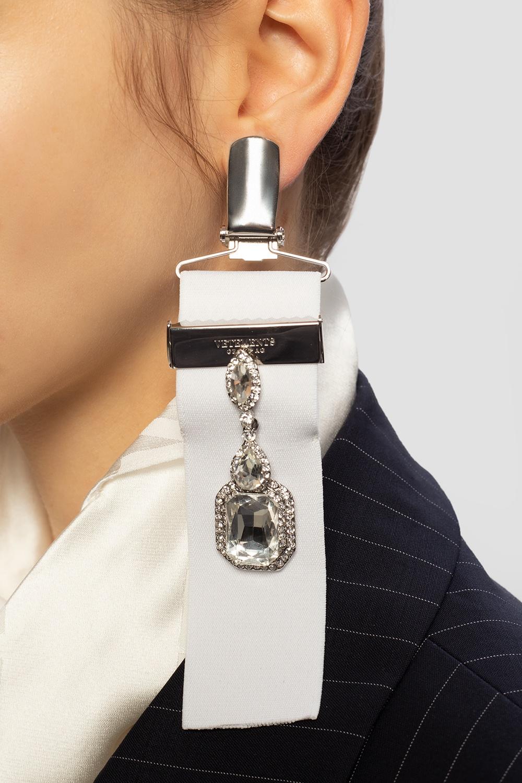 VETEMENTS Brass earrings with logo