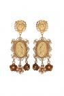 Dolce & Gabbana Floral motif clip-on earrings