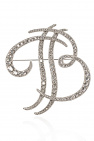 Balmain Crystal-embellished brooch
