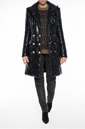 Quilted double-breasted coat od Balmain