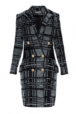 Patterned double-breasted coat od Balmain