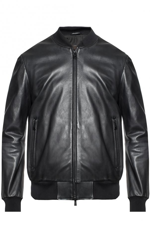 f7f4c7a8d Leather bomber jacket Emporio Armani - Vitkac shop online