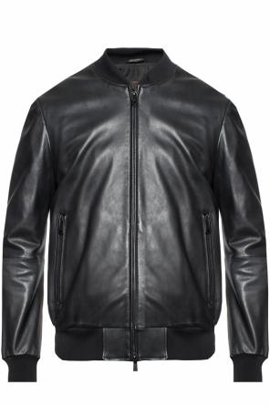 Leather bomber jacket od Emporio Armani