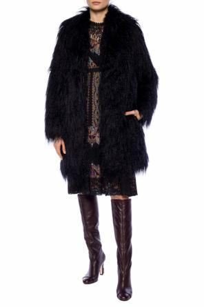 Single-vented fur jacket od Etro