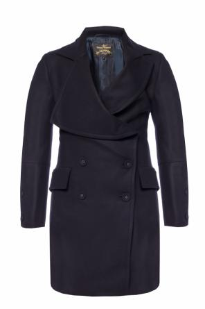 Single-vented asymmetrical coat od Vivienne Westwood