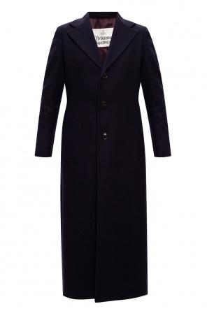Wełniany płaszcz z otwartymi klapami od Vivienne Westwood