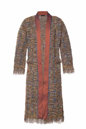 Woven coat with pockets od Etro