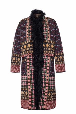 Coat with a fur finish od Etro