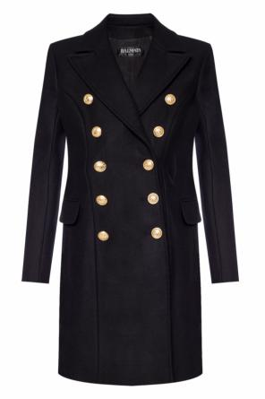 Double-breasted coat with pockets od Balmain