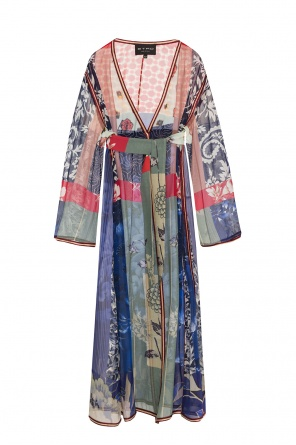 Floral-printed silk coat od Etro