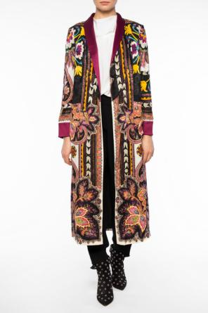 Reversible patterned coat od Etro