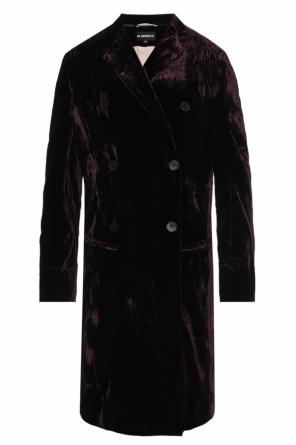Double-breasted velvet coat od Ann Demeulemeester