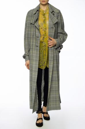 Checked double-breasted coat od Etro