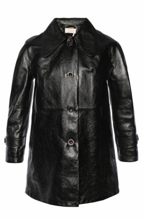 Leather coat od Chloe