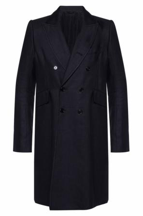 Single-vented double-breasted coat od Ann Demeulemeester