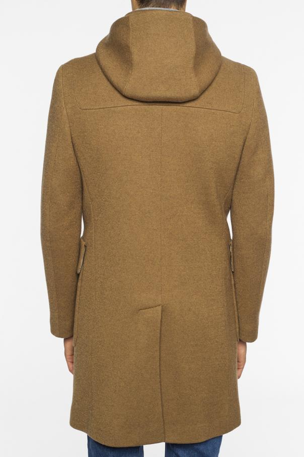 Coat with detachable hood od Etro